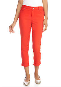 27f3d6ad349 ... Crown & Ivy™ Solid Stretch Denim Crop Pants