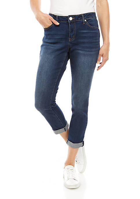 Rolled Cuff Cropped Jeans