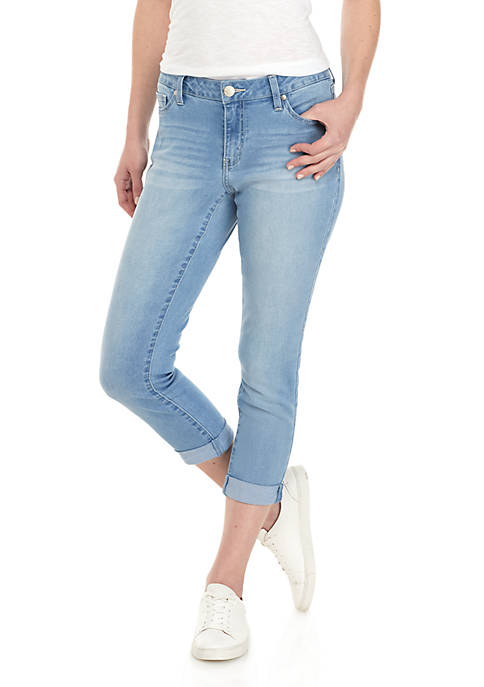 Crown & Ivy™ Roll Cuff Crop Denim Jeans