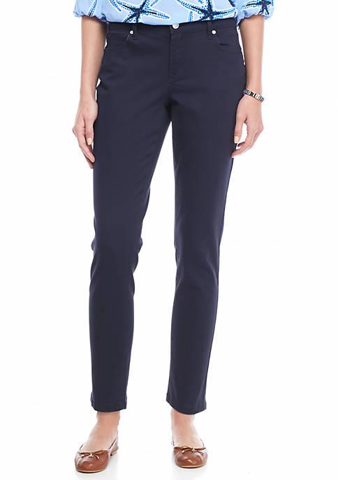 Crown & Ivy™ Petite Size Color Twill Pants