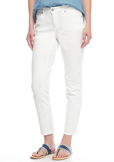Crown & Ivy™ Petite Colored Denim Skinny Jeans