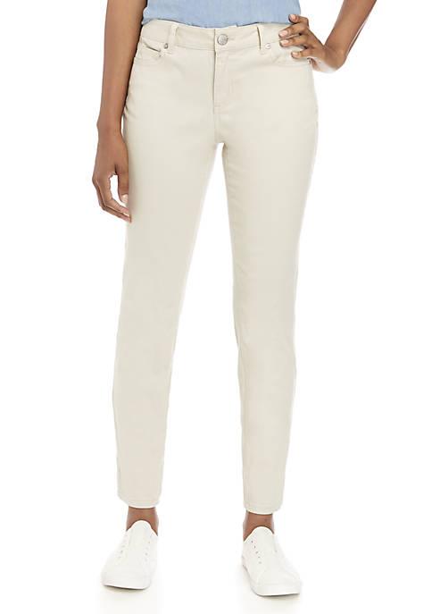 Crown & Ivy™ Petite Colored Denim Skinny Jeans