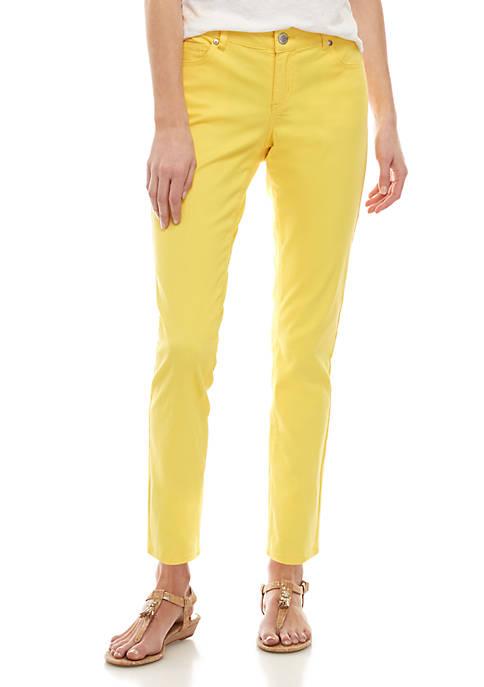 Crown & Ivy™ Petite Five Pocket Colored Skinny