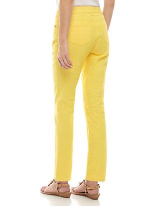 1516193d1 Crown & Ivy™ Petite Five Pocket Colored Skinny Jean   belk