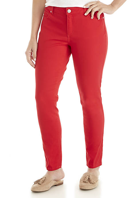 Crown & Ivy™ Womens Classic 5-Pocket Colored Denim