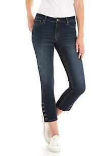 Side Button Skinny Jean