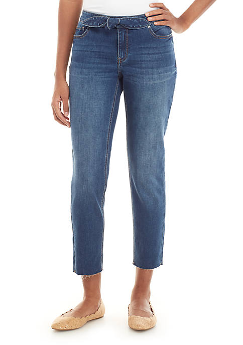 Tie Front Cropped Jeans