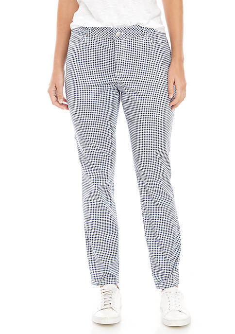 Gingham Printed Jeans
