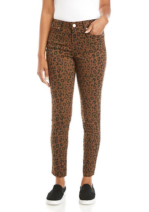 Crown & Ivy™ Leopard Skinny Jeans