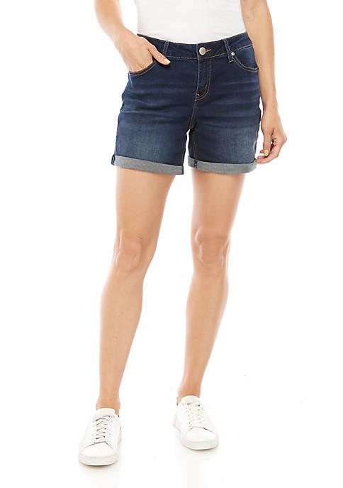 Roll Cuff Denim Shorts
