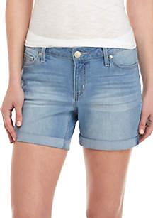 Crown & Ivy™ Roll Cuff Denim Shorts