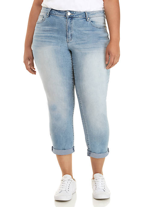 Plus Size Cropped Denim Jeans
