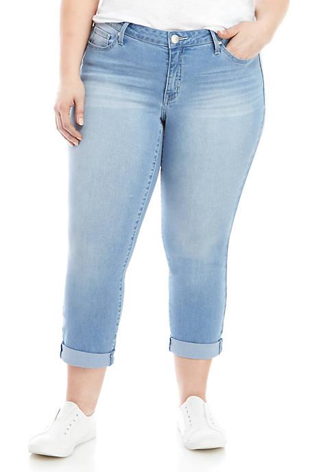 Crown & Ivy™ Plus Size Denim Cropped Jeans