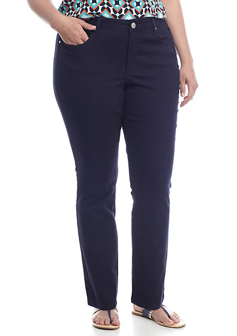 Plus Size 5 Pocket Denim Pant