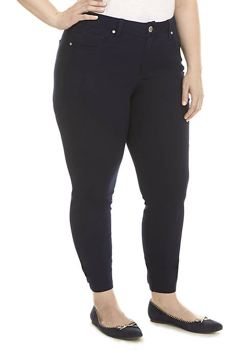 Crown & Ivy™ Plus Size Colored Skinny Jeans