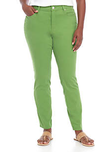 Plus Size 5 Pocket Colored Skinny Jeans