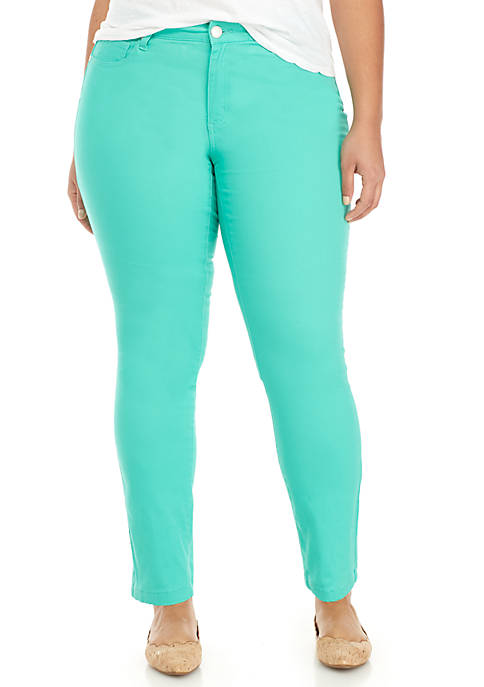 Crown & Ivy™ Plus Size 5-Pocket Colored Skinny