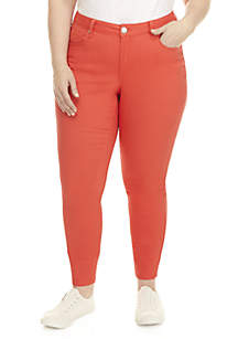 Plus Size 5-Pocket Colored Skinny Jeans