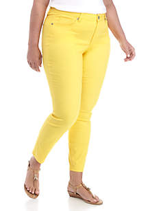 Crown & Ivy™ Plus Size 5-Pocket Colored Skinny Jeans