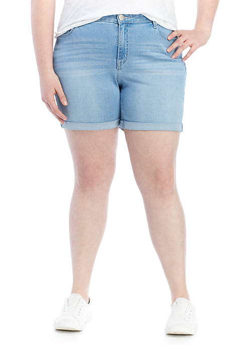 Crown & Ivy™ Plus Size Rolled Jean Shorts