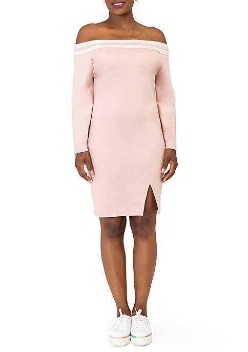 Eva Off the Shoulder Midi Dress