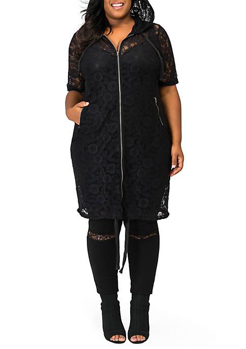 Plus Size Kenny Long Lace Elbow Sleeve Jacket