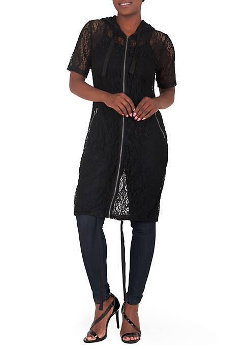 Poetic Justice Kenny Long Lace Elbow Sleeve Jacket