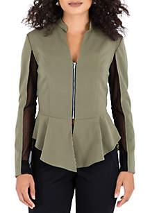 Poetic Justice Britta Suiting Peplum Jacket