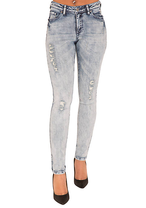 Poetic Justice Plus Size Madison Light Blue Skinny