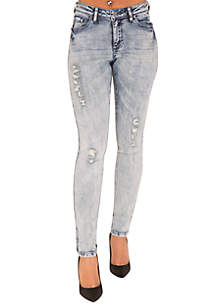 Poetic Justice Plus Size Madison Light Blue Skinny Jeans