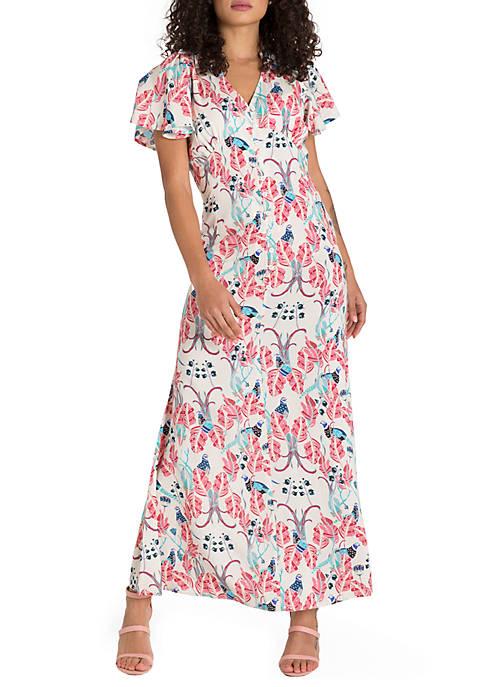 Poetic Justice Prabal Printed Maxi Dress