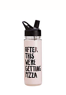 After This Pizza Water Bottle