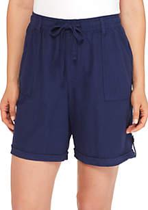 Sheeting Shorts-7 Tab Hem