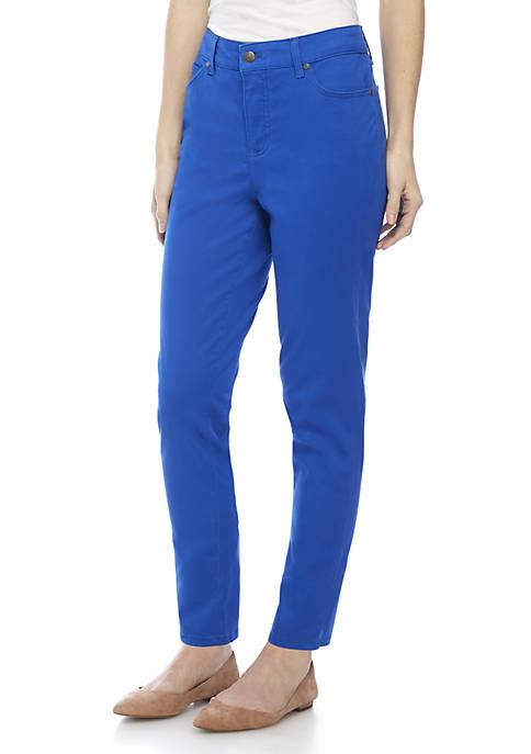 Kim Rogers® Petite 5-Pocket Ankle Denim Pants