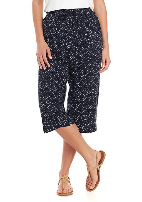 Kim Rogers® Marjorie Dancing Dots Capri Pants
