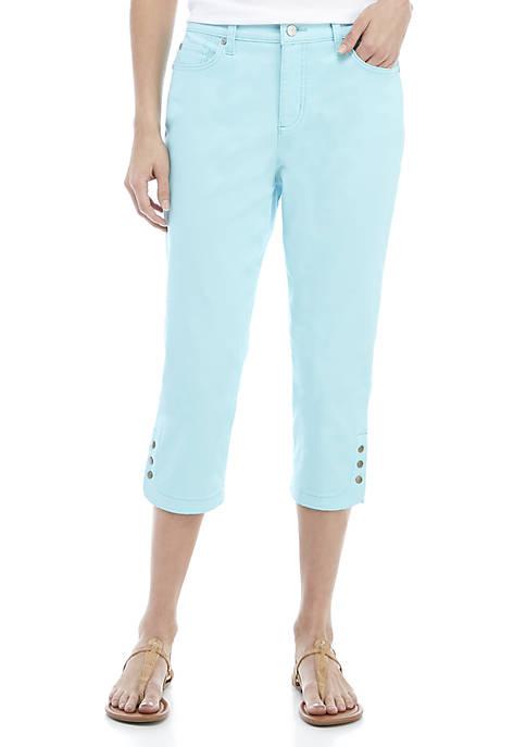 Kim Rogers® Tulip Hem Snap Capri Pants
