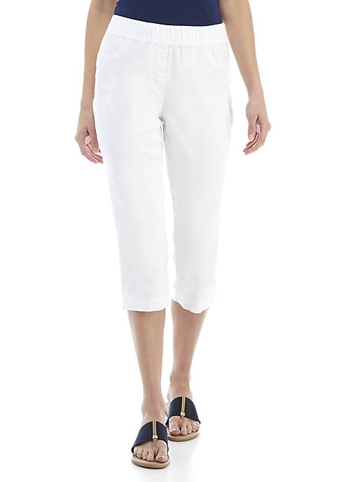 Kim Rogers® Knit Denim Pull-On Capri Pants