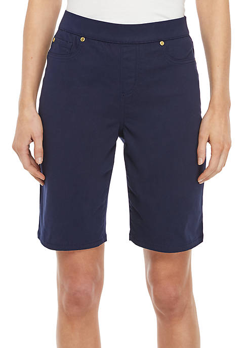 Kim Rogers® Petite Pull On Bermuda Shorts