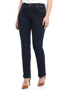 5 Pocket Straight Leg Denim Pant