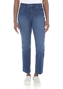 Petite Jones Straight Jeans - Short Length