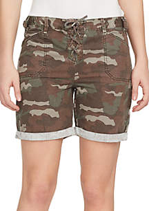 Relaxed Fit Utility Cargo Shorts