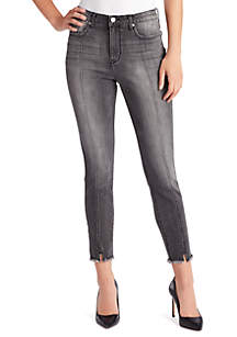 Sculpted High Rise Ankle Jeans