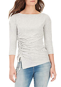 Noa Side Ruch Knit Top