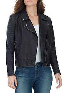 Alexa Vegan Leather Moto Jacket