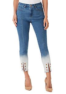 High Rise Split Hem Jeans