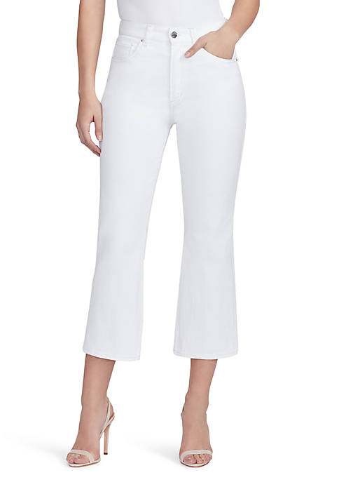 High Rise Flare Crop Jeans