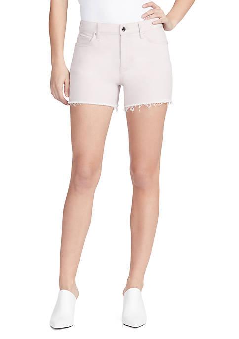 High Rise Denim Colored Shorts