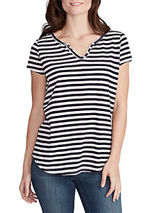 Short Sleeve Cooper Stripe Top