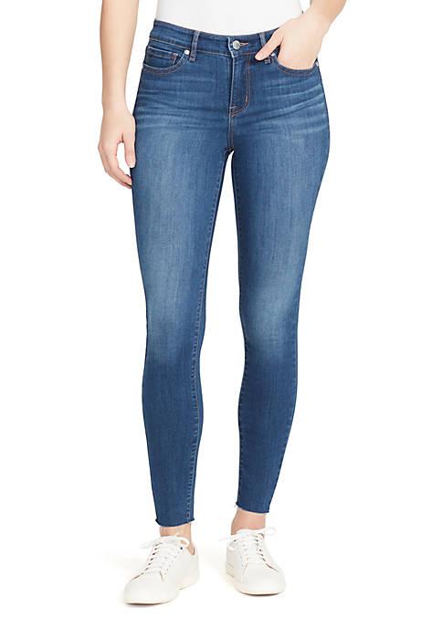 Perfect Skinny Cut Hem Jeans