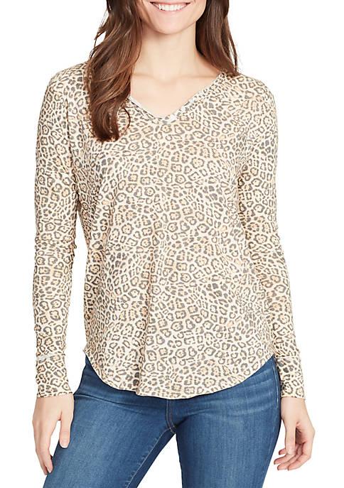 Candace Long Sleeve Henley T Shirt